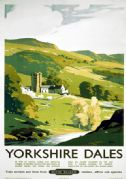 Yorkshire Dales. British Railways (NER) Vintage Travel Poster by Frank Sherwin. 1953